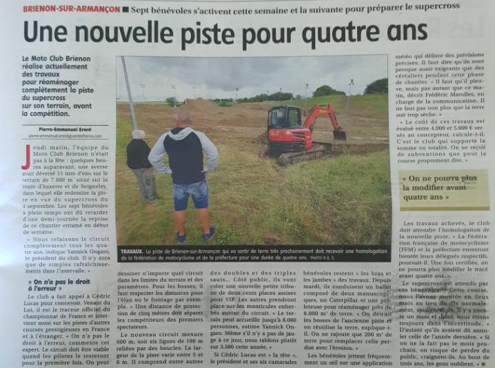 Supercross de l'Yonne 2021 - Article YR dsur la nouvelle piste