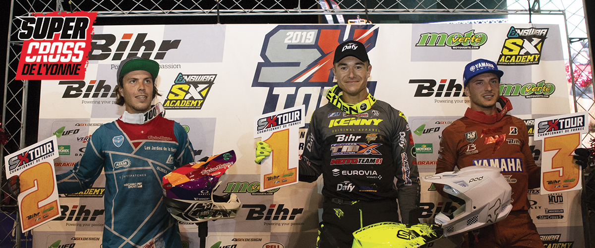 Supercross de l'Yonne 2019 - Vicoire de  Calvin Fonvieille en SX2