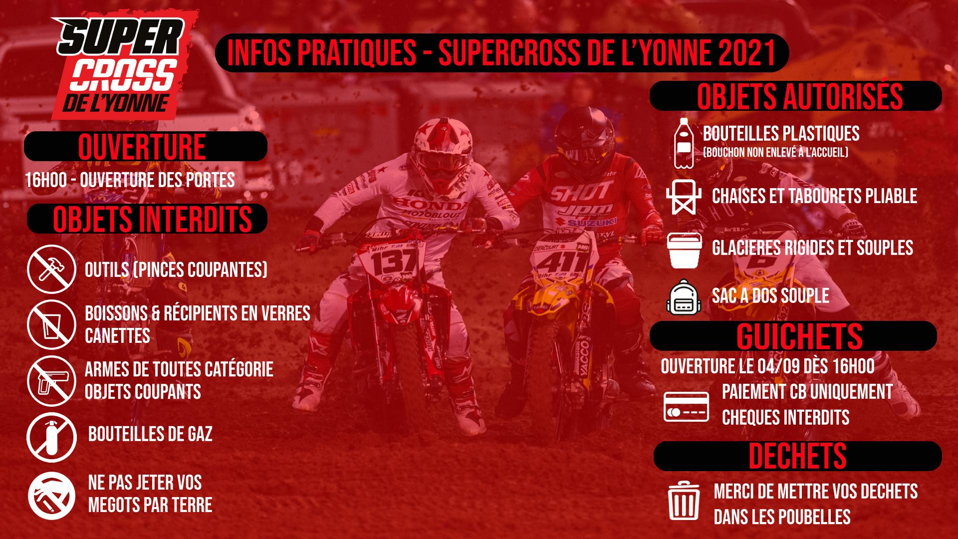 Supercross de l'Yonne 2021 - Les infos pratiques