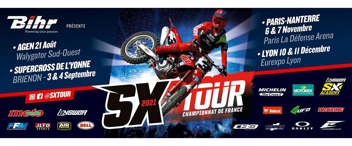 Championnat de France de Supercross 2021 - Calendier provisoire
