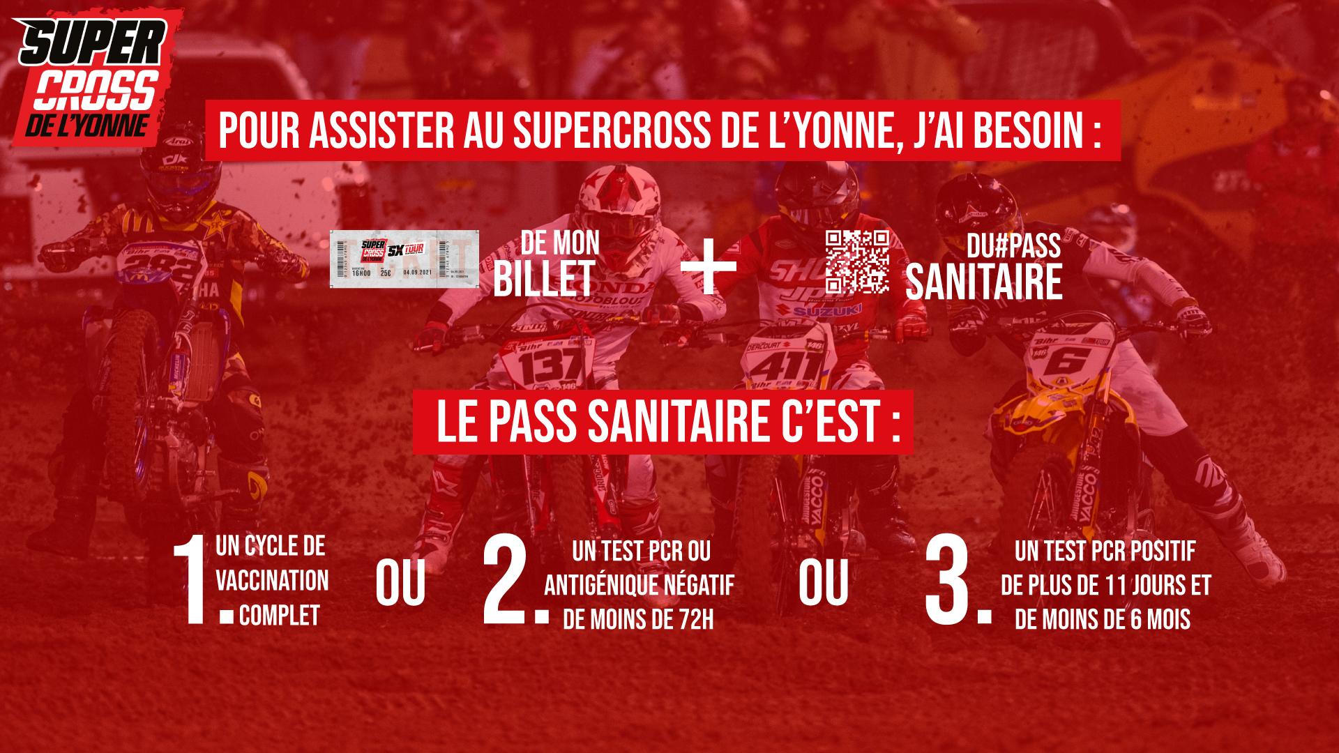 Supercross de l'Yonne 2021 - Pass Sanitaire