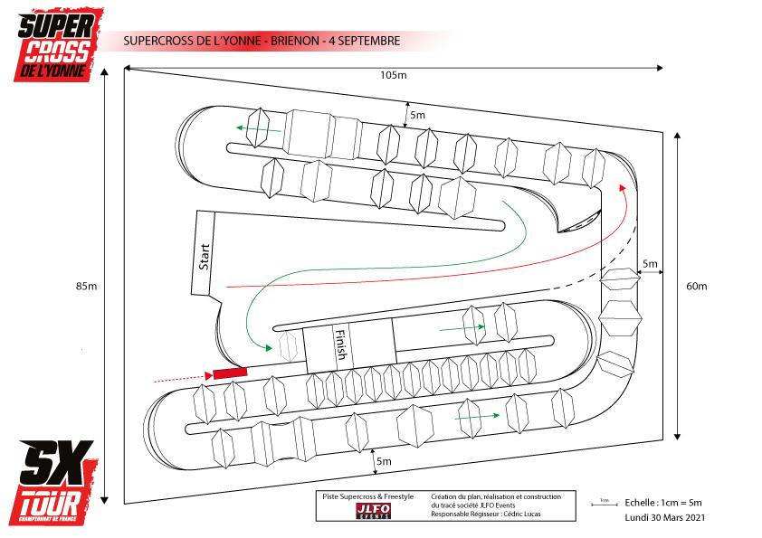 Supercross de l'Yonne 2021 - Plan de la Piste